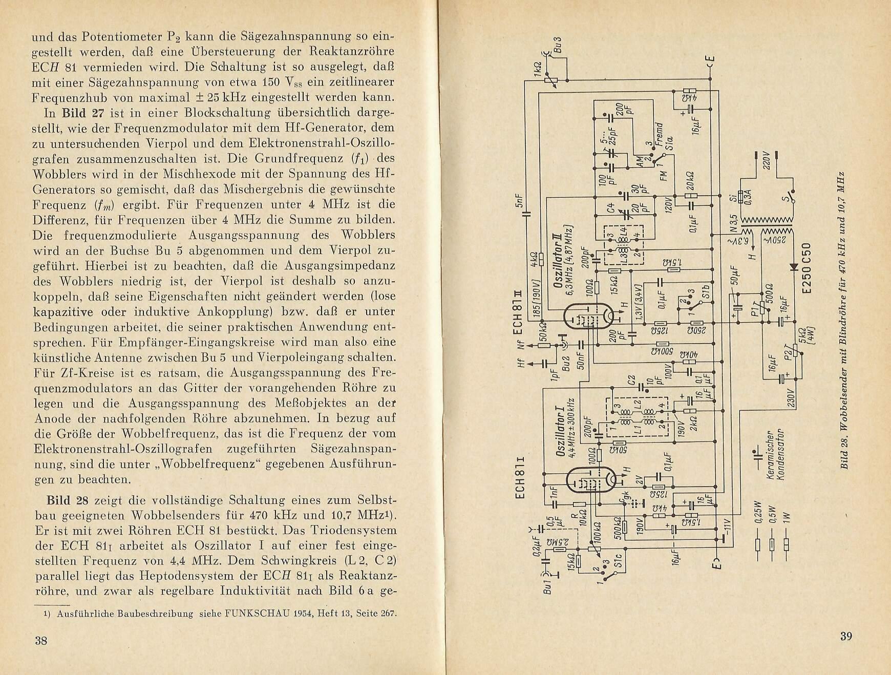 Bauanleitung Wobbelsender Mit Max038 Free Schematic Diagram 1hz Up To 22mhz Generator Using Dasselbe In Schwarz Wei