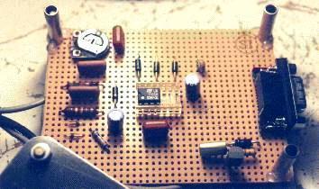 Leiterplatte meines selbtsgebauten Hamcomm-Simpel-Modems